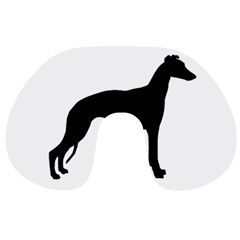 Whippet Silhouette Travel Neck Pillows by TailWags