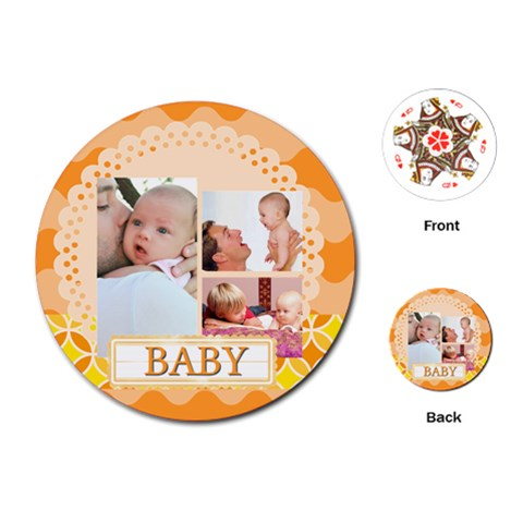 Baby By Baby   Playing Cards (round)   Ahahizlkfqw2   Www Artscow Com Front