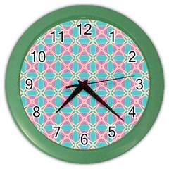 Cute Pretty Elegant Pattern Color Wall Clocks by creativemom