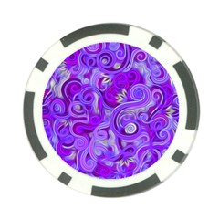 Lavender Swirls Poker Chip Card Guards by KirstenStar