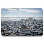 Gray Stacking Stones Zen Balance: Door Mat - Large Doormat