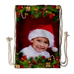 Christmas Draw String Bag Large - Drawstring Bag (Large)