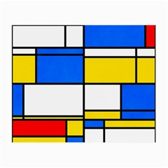 Colorful Rectangles Small Glasses Cloth by LalyLauraFLM