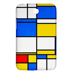 Colorful Rectangles Samsung Galaxy Tab 3 (7 ) P3200 Hardshell Case  by LalyLauraFLM