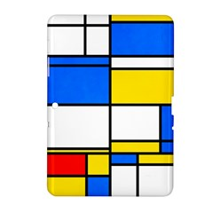 Colorful Rectangles Samsung Galaxy Tab 2 (10 1 ) P5100 Hardshell Case  by LalyLauraFLM