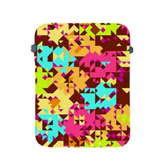 Shapes In Retro Colors Apple Ipad 2/3/4 Protective Soft Case by LalyLauraFLM