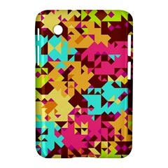 Shapes In Retro Colors Samsung Galaxy Tab 2 (7 ) P3100 Hardshell Case  by LalyLauraFLM