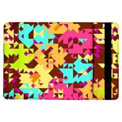 Shapes In Retro Colorsapple Ipad Air Flip Case by LalyLauraFLM
