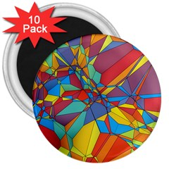 Colorful miscellaneous shapes 3  Magnet (10 pack) by LalyLauraFLM