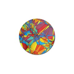 Colorful Miscellaneous Shapes Golf Ball Marker by LalyLauraFLM