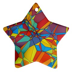 Colorful Miscellaneous Shapes Star Ornament (two Sides) by LalyLauraFLM