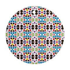 Colorful Dots Pattern Ornament (round) by LalyLauraFLM