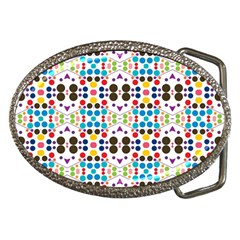 Colorful Dots Pattern Belt Buckle by LalyLauraFLM