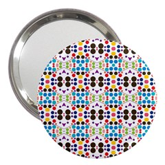 Colorful Dots Pattern 3  Handbag Mirror by LalyLauraFLM