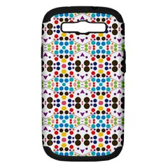 Colorful Dots Pattern Samsung Galaxy S Iii Hardshell Case (pc+silicone) by LalyLauraFLM