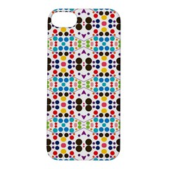 Colorful Dots Pattern Apple Iphone 5s Hardshell Case by LalyLauraFLM