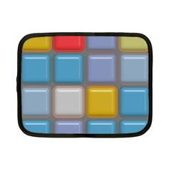Shiny Squares Pattern Netbook Case (small) by LalyLauraFLM