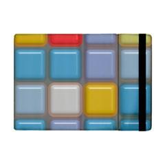 Shiny Squares Pattern Apple Ipad Mini Flip Case by LalyLauraFLM