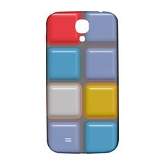 Shiny Squares Pattern Samsung Galaxy S4 I9500/i9505  Hardshell Back Case by LalyLauraFLM