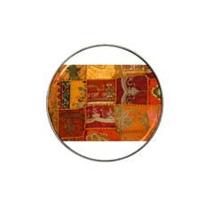 India Print Realism Fabric Art Hat Clip Ball Marker (4 pack) by TheWowFactor