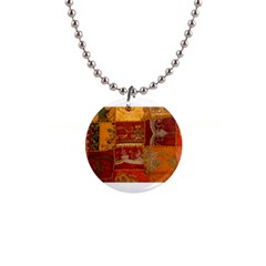 India Print Realism Fabric Art Button Necklaces by TheWowFactor