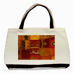 India Print Realism Fabric Art Basic Tote Bag  by TheWowFactor