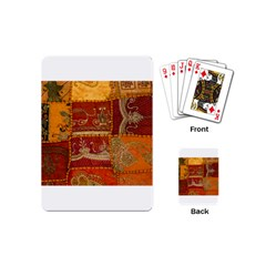 India Print Realism Fabric Art Playing Cards (mini)  by TheWowFactor
