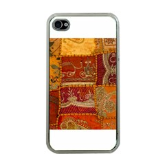 India Print Realism Fabric Art Apple Iphone 4 Case (clear) by TheWowFactor