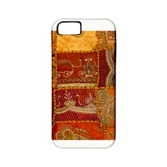 India Print Realism Fabric Art Apple Iphone 5 Classic Hardshell Case (pc+silicone) by TheWowFactor