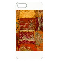India Print Realism Fabric Art Apple Iphone 5 Hardshell Case With Stand by TheWowFactor