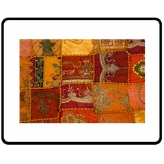 India Print Realism Fabric Art Double Sided Fleece Blanket (Medium)  by TheWowFactor