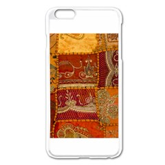 India Print Realism Fabric Art Apple Iphone 6 Plus Enamel White Case by TheWowFactor