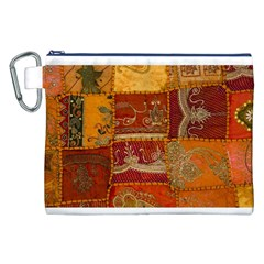 India Print Realism Fabric Art Canvas Cosmetic Bag (xxl)  by TheWowFactor