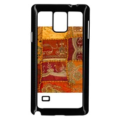 India Print Realism Fabric Art Samsung Galaxy Note 4 Case (black) by TheWowFactor