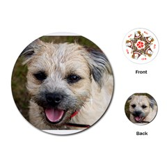 Border Terrier Playing Cards (Round)  by TailWags
