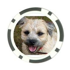 Border Terrier Poker Chip Card Guards by TailWags