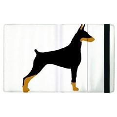 Doberman Pinscher black and tan silhouette Apple iPad 2 Flip Case by TailWags