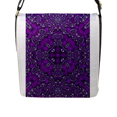 Crazy Beautiful Abstract  Flap Messenger Bag (L)  by OCDesignss