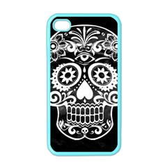 Skull Apple Iphone 4 Case (color) by ImpressiveMoments
