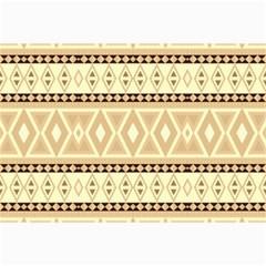Fancy Tribal Border Pattern Beige Collage 12  x 18