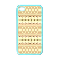 Fancy Tribal Border Pattern Beige Apple Iphone 4 Case (color) by ImpressiveMoments