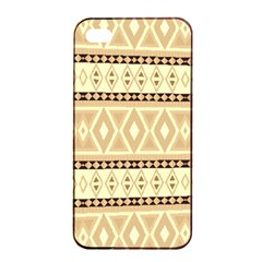 Fancy Tribal Border Pattern Beige Apple Iphone 4/4s Seamless Case (black) by ImpressiveMoments