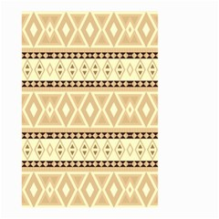 Fancy Tribal Border Pattern Beige Small Garden Flag (Two Sides) by ImpressiveMoments