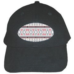 Fancy Tribal Border Pattern Soft Black Cap by ImpressiveMoments