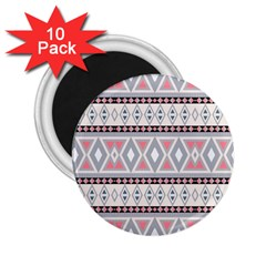 Fancy Tribal Border Pattern Soft 2 25  Magnets (10 Pack)  by ImpressiveMoments