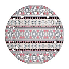 Fancy Tribal Border Pattern Soft Ornament (round Filigree)  by ImpressiveMoments