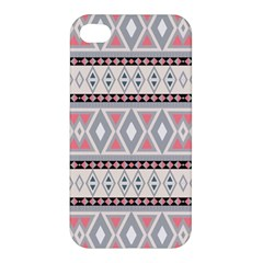 Fancy Tribal Border Pattern Soft Apple Iphone 4/4s Premium Hardshell Case by ImpressiveMoments