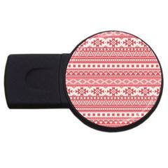 Fancy Tribal Borders Pink Usb Flash Drive Round (2 Gb)  by ImpressiveMoments