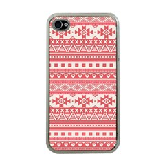 Fancy Tribal Borders Pink Apple Iphone 4 Case (clear) by ImpressiveMoments
