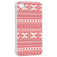 Fancy Tribal Borders Pink Apple Iphone 4/4s Seamless Case (white) by ImpressiveMoments